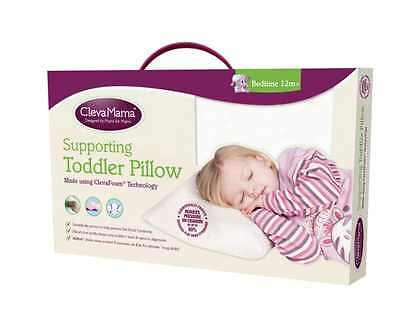 Clevamama Clevafoam Toddler Pillow Comfort with Perfect Support AirFlow Fabric