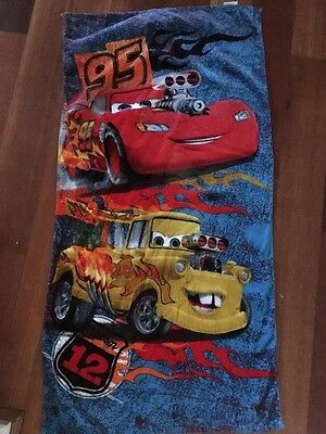 lightning mcqueen bath towel