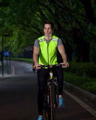 Led light up hi viz vest, gilet, runners, cyclists, horse riders, safety