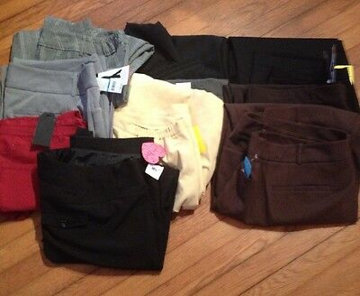 Plus Mixed Size Lot Of 10 Pair Dress Pants Resell Thrift Store Wholesale