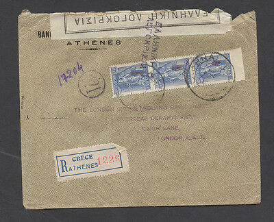 Greece WWI censor cover to  Great Britain