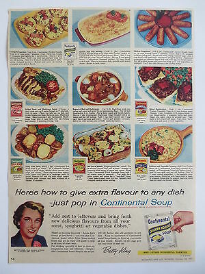 Vintage advertising original 1950s Australian ad for CONTINENTAL SOUP (2)