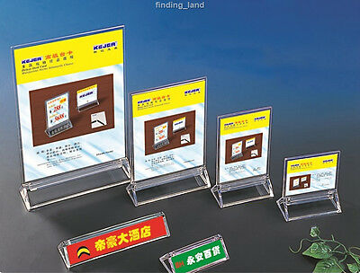 Double Sided Acrylic Poster Menu Holder Perspex Leaflet Display Stands- T1