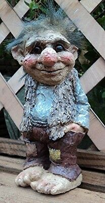 Garden Troll Ornament Outdoor Gnome Statue Patio Decor Sculpture Novelty Gift