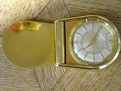 Vintage JAEGER LECOULTRE Memovox Reisewecker Travel clock for parts.