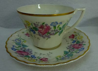 SYRACUSE china LILAC ROSE pattern Cup & Saucer Set - 2-5/8""