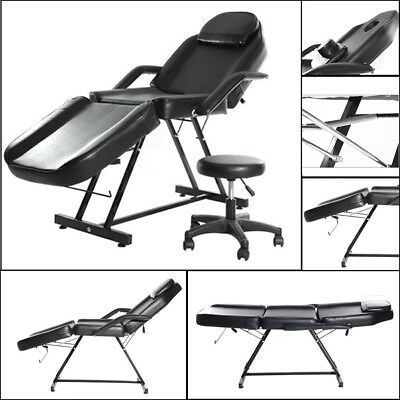 Beauty Salon ChairBalance Massage Table Tattoo Facial Couch Bed  CouchW/Stool