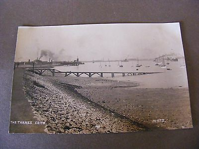 Vintage Glossy RP Postcard ERITH  RIVER THAMES LONDON  REAL PHOTO