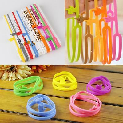 Elastic Book Stationery Marker Bookmark Finger Pointing Silicone