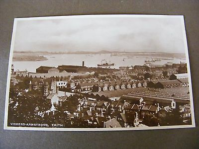 Vintage Glossy RP Postcard ERITH  VICKERS ARMSTRONG  LONDON  REAL PHOTO