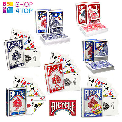 Bicycle Magic Tricks Playing Cards Deck Uspcc Sealed Made In Usa Red Blue New
