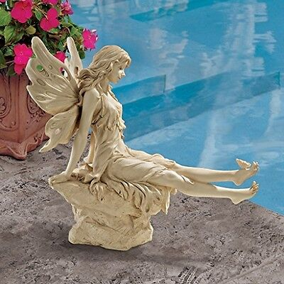 Garden Fairy Ornament Outdoor Decorative Statue Patio Sculpture Lawn Figurine