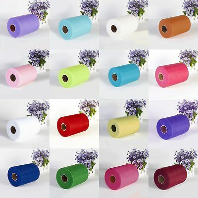 "6""x25Y 100Y Tulle Roll Spool Tutu Wedding Gifts Craft Party Decoration Fabric"