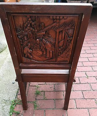 Fine Old Carved Chinese Asian Chair