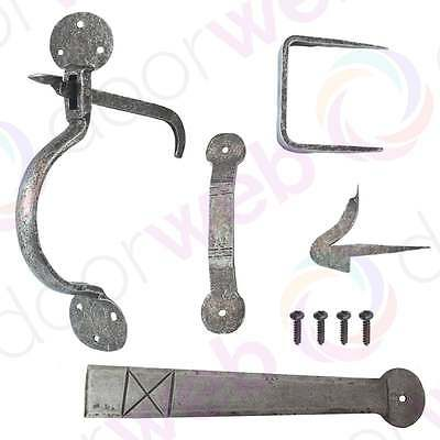 SUFFOLK THUMB LATCH Door Gate Hand Forged Iron Antique Vintage PEWTER 240mm