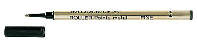 Pack of 3 WATERMAN ROLLERBALL BLACK FINE POINT REFILL NEW IN PACK