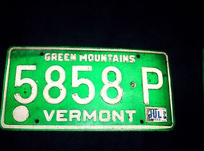 Vermont License Plate July 1980