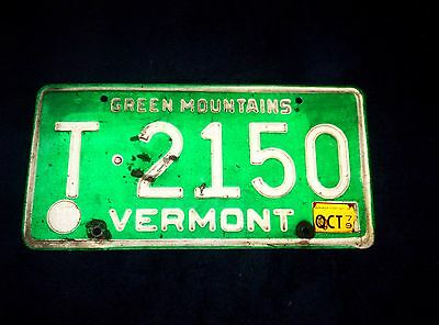 Vermont License Plate Oct. 79