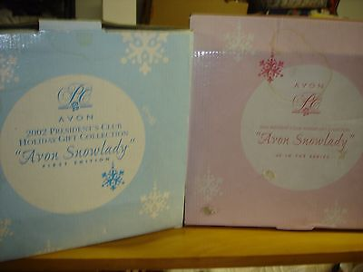 2~Vintage Avon Snowlady Holiday Gift Collections