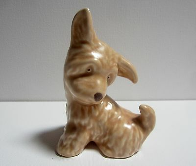 Vintage Early Sylvac Pottery - Art Deco style Small Sitting Terrier Dog No. 73