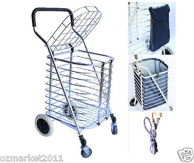 * Convenient Aluminum Basket Four Wheels Shopping Luggage Trolleys & Fitting
