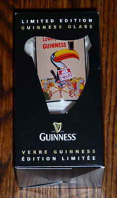 Limited Edition Jack Astor's Toucan Guinness Commemorative Pint Glass -New Boxed