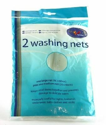 Set Of 2 Washing Machine Net Nets Bags Mesh Underware Socks Clothes Lingerie