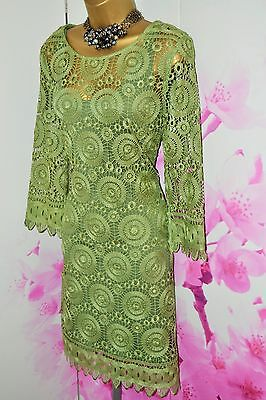 Gorgeous ⭐️ Phase Eight ⭐️ Green Lace Crochet Dress Size 16 Mother of the Bride