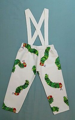 The Very Hungry Caterpillar trousers with detachable braces and matching bib