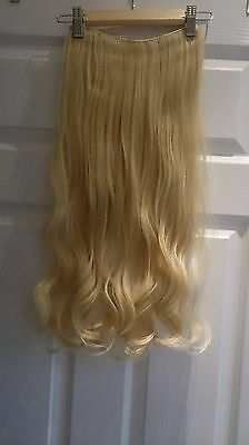 "24"" curly 3/4 head synthetic hair extensions honey blonde"