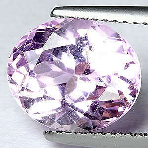 4.37Ct Top Gorgeous Oval Silver Pink 100% Natural Kunzite
