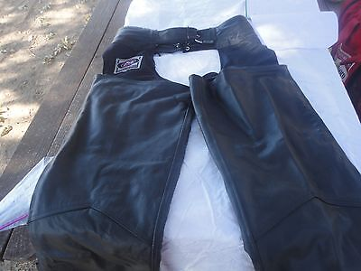 River Road Black Leather Chaps