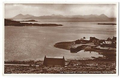 The Cuillins of Skye from Applecross Ross-shire, RP Postcard by Valentine Unused