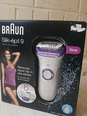 Braun Silk Epil 9 9-561 Women's Wet and Dry Cordless Epilator Hair Removal NEW