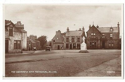 ELLON The Square and War Memorial, RP Postcard by Valentine, Unused
