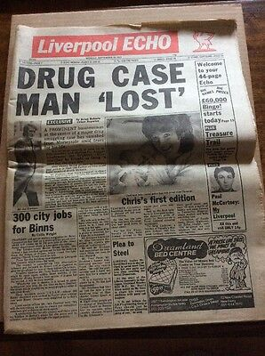 Liverpool Echo 1st Edition Of New Format Tabloid Newspaper 19th September 1983