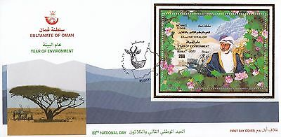 B 2052 Oman 32nd National Day 200b minisheet First Day Cover Nov 2002