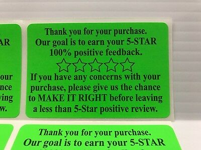 1000 Thank You For Your Purchase or Order amazon etsy Labels Stickers 4 ROLL 250