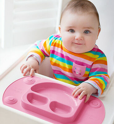 Mini EasyMat® Portable Baby Suction Plate & Placemat with Lid and Carry Case