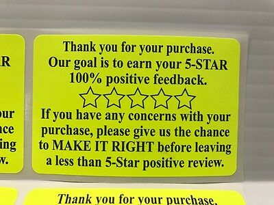 500 Ebay Amazon Etsy Thank You For Your Purchase Stickers 2 x 3 Label Labels NEW