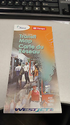 September 2004 OC Transpo Transit Map Ottawa
