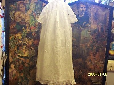 A vintage, white christening gown.