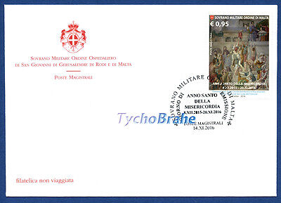 FDC HOLY YEAR MERCY JUBILEE SMOM 2016 First Day Cover CHIUSURA ANNO SANTO MALTA