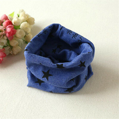 Boys Girls Baby Autumn Winter Scarves O Ring Neck Cotton Collar Scarves Blue New