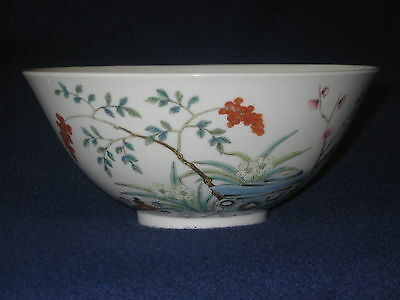 Chinese Late Qing Dynasty Porcelain Famille Rose Bowl