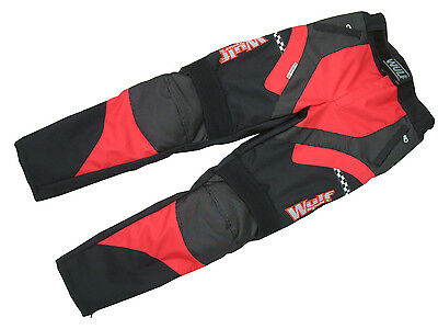 Adult alpina motocross motorbike road rally trail red trouser pants