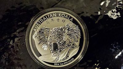 LOT OF 3 COINS 2014 Koala with Chinese Privy 1 oz Silver Coin BU