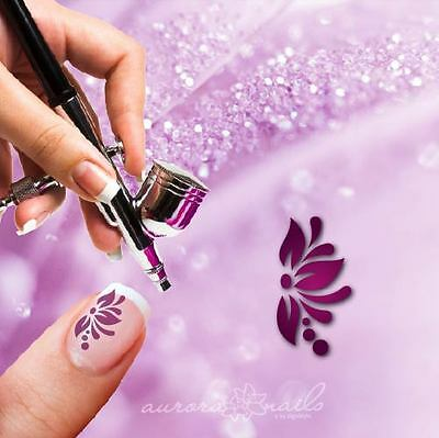 Airbrush sticky templates - F304 - NAILART 80 Stk Ornament Floral Flowers