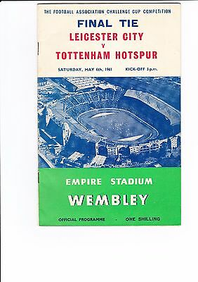 1961 Fa Cup Final Tottenham V Leicester City Official Programme