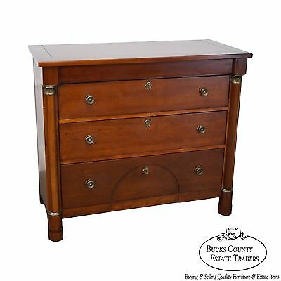 Lexington Cherry Empire Style Column Front Chest of Drawers
